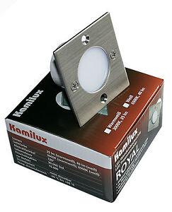 LED Wandeinbauleuchte 230V Schalterdose 60mm Einbauspot Treppenlicht 2-Draht