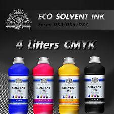 Nuevo Eco Tinta Solvente Para Roland Mimaki Mutoh 4 Litros Cmyk Epson dx4/5/7