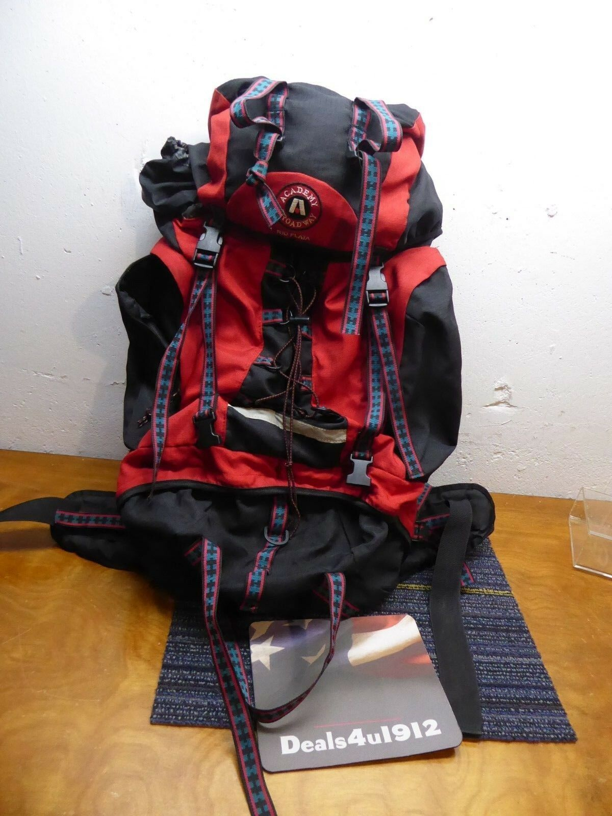 Vintage Academy Broadway Rio Silber Internal Frame Pack hiking camping backpack