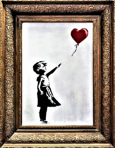 "BANKSY SELF-DESTRUCTING ART 8.5/""x11/"" LAMINATION PLUS PAPER COPY YOU CAN SHRED"