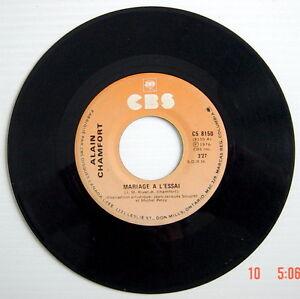 DISQUE-45-TOURS-DE-1976-DE-ALAIN-CHAMFORT-LA-DANSE-C-039-EST-NATUREL-MARIAGE-A-L-039