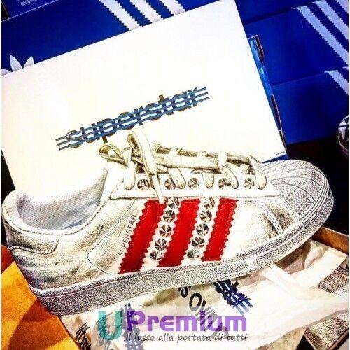 Adidas Superstar [Prodotto Bianche Strisce Rosse [Prodotto Superstar Customizzato] Scarpe ORIGINALI 9b4fd0