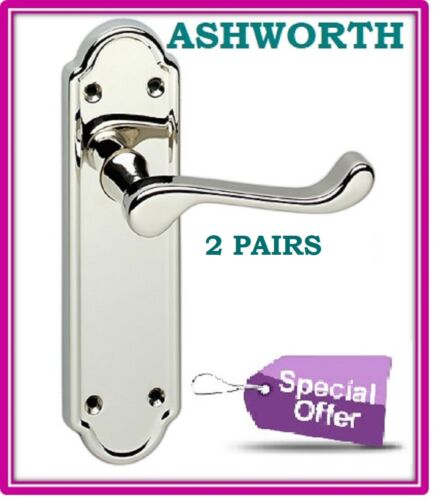 1-15 Sets Ashworth Chrome Interior Door Latch Handles FAST /& FREE DELIVERY D1