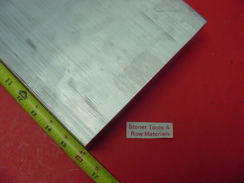 """2 pieces 1/"""" X 6/"""" ALUMINUM 6061 T6511 SOLID FLAT BAR 16/"""" long Extruded Mill Stock"""
