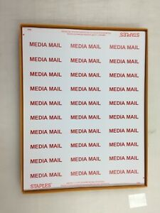 """Details about MEDIA MAIL 2 5/8"""" X 1"""" 1020 Shipping Labels 34 Sheets FREE  SHIPPING"""