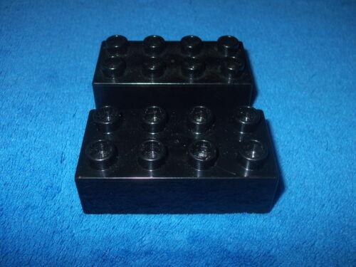 LEGO DUPLO RITTERBURG 2 X 8er NOPPEN STEIN 4777 4988 4785 Schwarz Steine