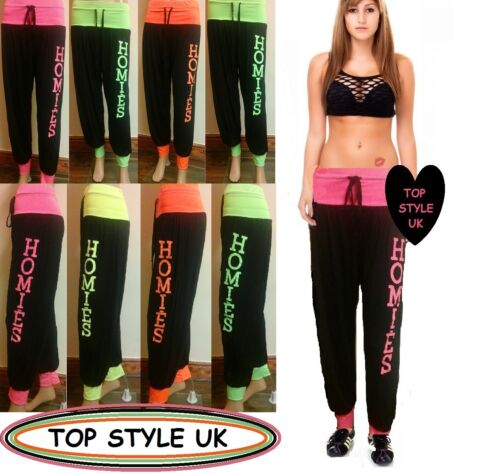 lADIES WOMEN SPORTS GYM JOGGING EXCERSISE BAGGY TROUSERS HAREM PANTS SIZE 8-18
