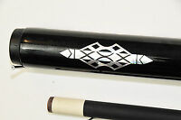 2 Piece Black Graphite Pool Cue Billiards, Custom, Vintage Free Billiard Glove
