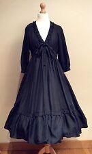 JIGSAW BLACK SILK DRESS SIZE 10 FULL SKIRT