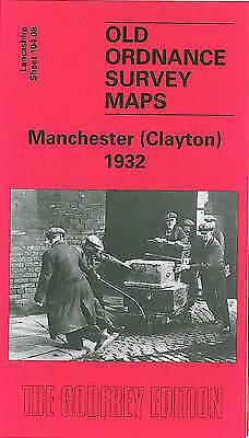 OLD ORDNANCE SURVEY MAP Manchester (Clayton) 1932: Lancashire Sheet 104.08