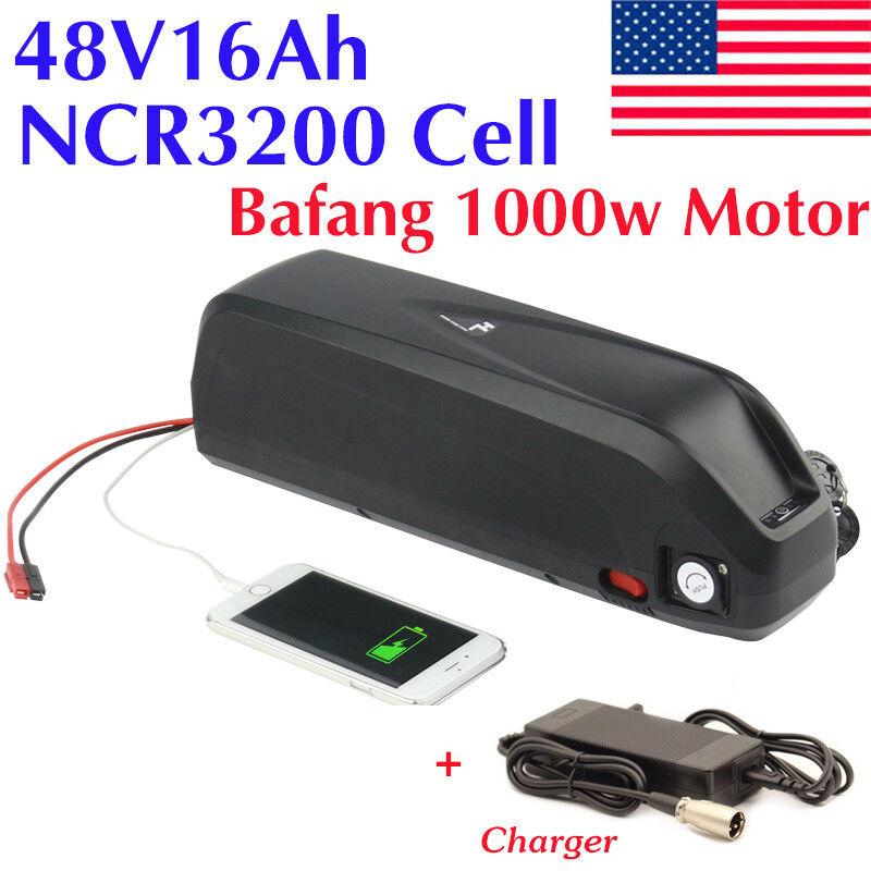 48V16Ah Hailong Li-oin Battery NCR Cell Electric Bike Downtube for 1000W Motor