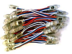 12-mm-Redondo-5-V-DIGITAL-RGB-LED-pixeles-filamento-de-50-WS2801-Impermeable-IP65