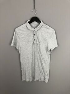 ALLSAINTS-Polo-Shirt-Size-Large-Grey-Great-Condition-Men-s