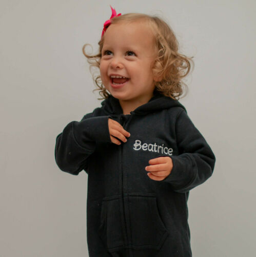 Personalised Black Baby All in One