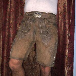 5fab91015dc2 ... Herren-Trachten-Lederhosen-bayrische-Lederhosen-kurze-Hose-mit-