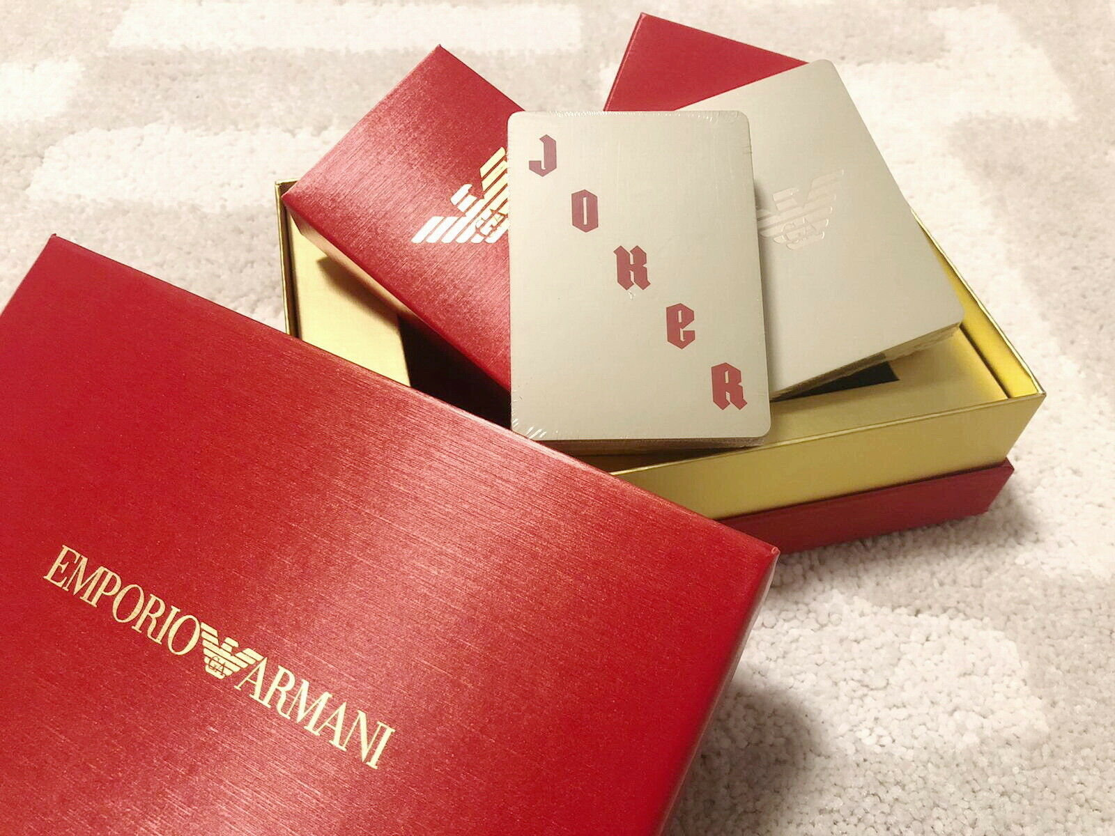 Emporio Armani playing card poker for blazer suit wallet backpack holder clutch
