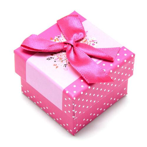 24 un Cajas de Joyería Regalo Anillo Esponja Interior Cuadrado presente caso de embalaje 5x5x4cm