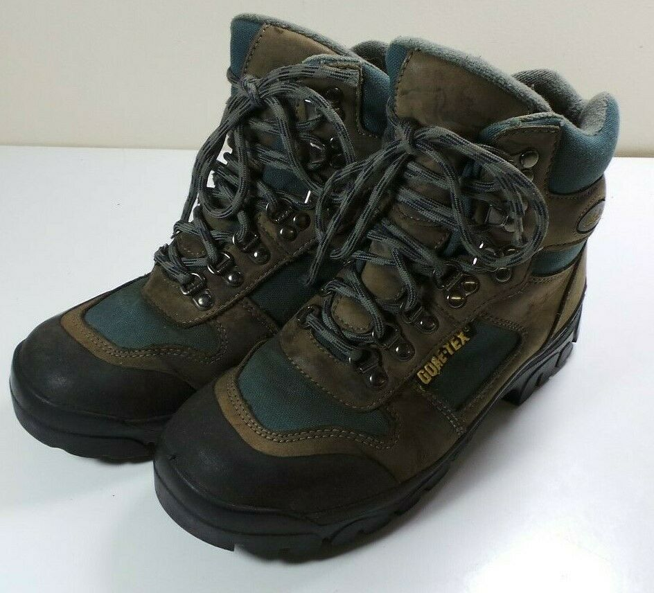 Women's Cabela's Leather Waterproof Gore-Tex Hiking Boots Size 7.5 Trail Vibram