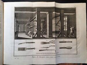 Enciclopedie-Diderot-1751-1772-L-039-Art-de-faire-le-Tapis-Tappezziere-n-53-Tavole