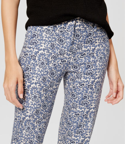 Ann Taylor LOFT Floral Vine Riviera Cropped Pants in Marisa Fit Various Sizes