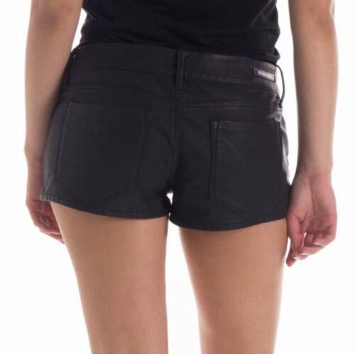 in Rrp Jeans Rize Womens Pantaloncini Bnwt ecopelle 12 £ 125 8 S 10 nera Spl Denham qH4wO77IT