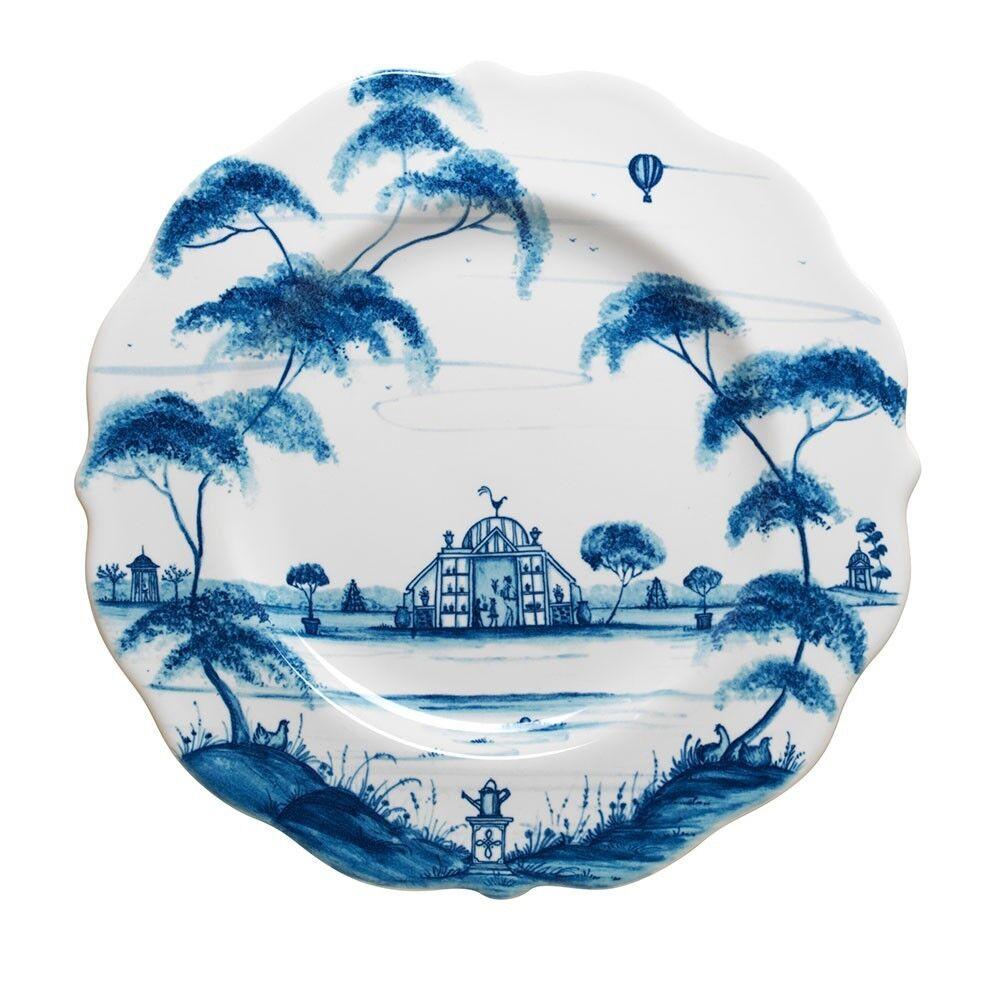 Juliska pays Estate Delft Bleu Désert salade assiettes JARDIN d'HIVER - 4er Set