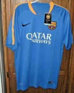 5daa10252 FC BARCELONA JERSEY FCB NIKE DRI-FIT SOCCER Shirt vtg Football ...