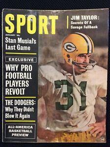SPORT Magazine (Vintage) Jan 1964  Cover: JIM TAYLOR, STAN MUSIAL  M1620