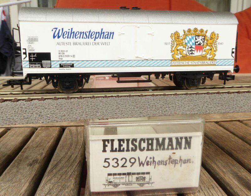 Fleischmann 5329 H0 Vagón Frigorífico Weihenstephan Cerveza de DB Epoche 4 5 Muy
