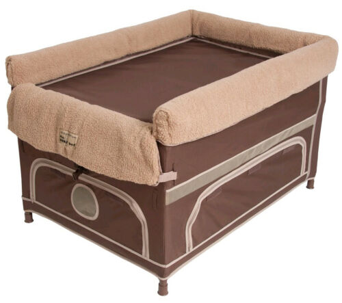 Arm/'s Reach Large Duplex Pet Bunk Bed with Pillow Cover /& Camel Liner Cocoa