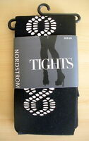 Nordstrom Black Cutout Swirl Tights S/m Style 303406
