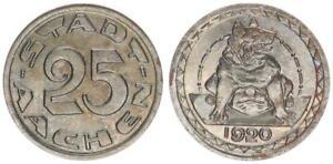 Aachen 25 Peniques 1920 Recién Acuñado 53579