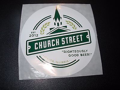 CHURCH STREET BREWING COMPANY Illinois STICKER decal craft beer brewing brewery