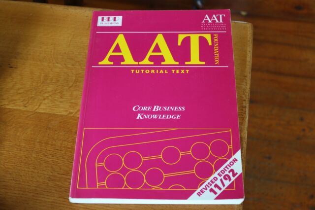 AAT Core Business Knowledge Tutorial Text Accounting Accounts Book 0862779251