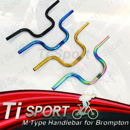 TiSportTitanium M Type No welding Handlebar OD 25.4 mm suit for Brompton Bike