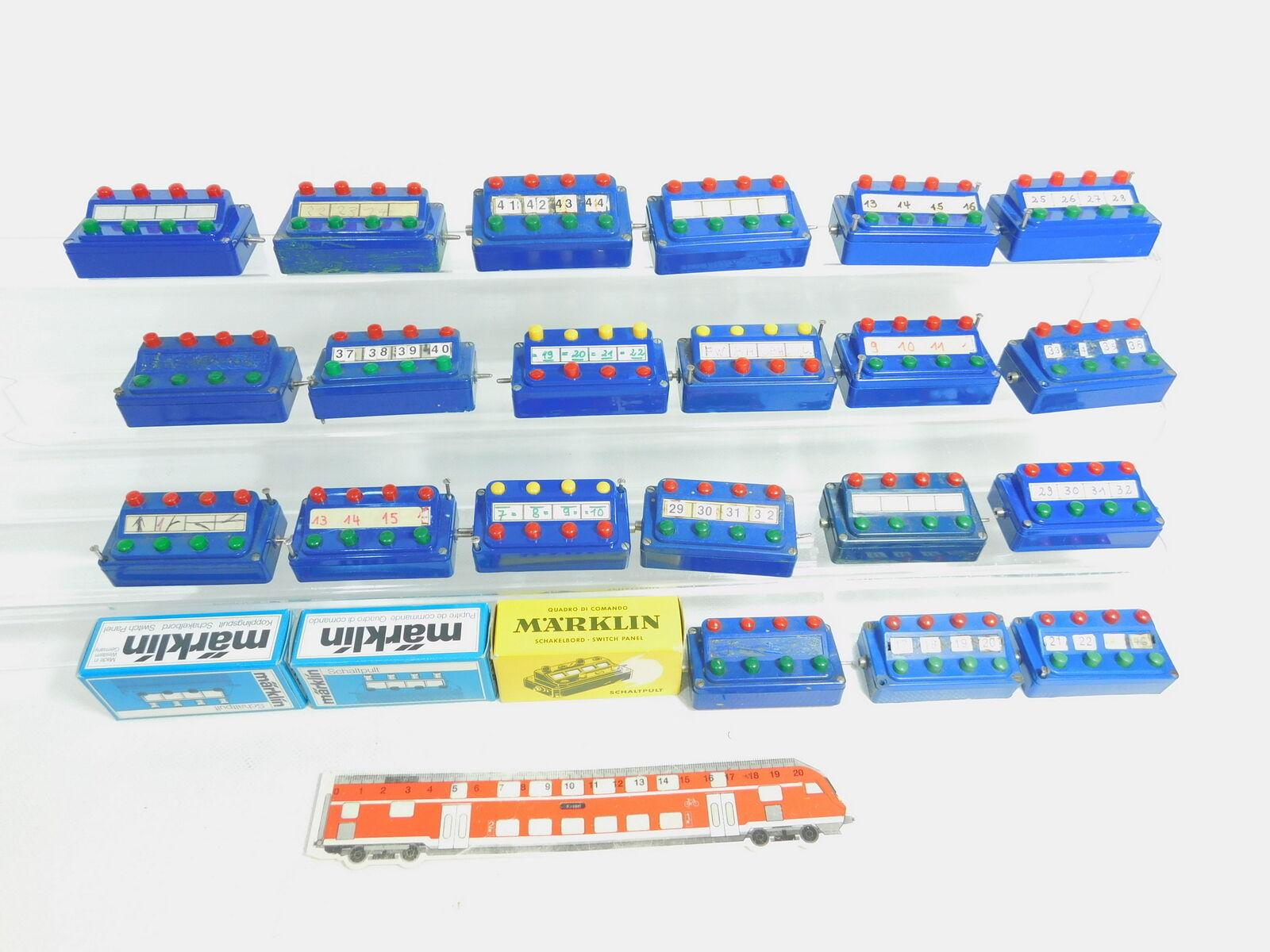 BN391-2 21x marklin H0 Ecc. Bastler-Stellpult Ecc.    7072   476 4+7210, 3x scatola  consegna diretta e rapida in fabbrica