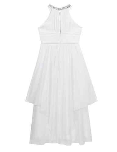 Kid Flower Girl Dress Pageant Wedding Bridesmaid Princess Formal Gown Long Dress