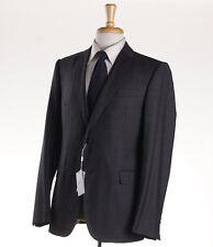 NWT $1695 ARMANI COLLEZIONI 'M-Line' Slim-Fit Dark Gray Check Wool Suit 38 R