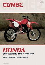 Honda CR60 CR80 CR125R CR125 Pro-Link 1981-1988 Clymer Manuale M442 NUOVO