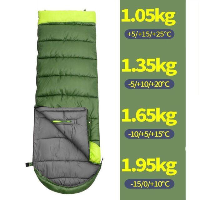 All Season Envelope Sleeping Bag Camp Hiking Case Waterproof Outdoor Home Travel