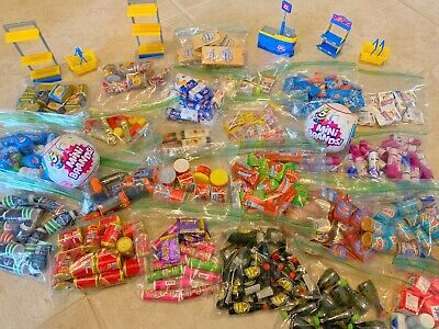 5 Surprise Mini Brands Warheads Extreme Sour Candy Bosco Syrup Coldstone Lot Toy