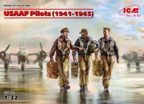 ICM 32104 - 1:32 USAAF Pilots (1941-1945) (3 figures) - Neu