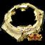14K Yellow Gold Rainbow Simulate Diamond GA 100 Series Casio G Shock Case Bezel