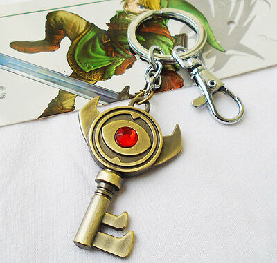 The Legend of Zelda Ocarina of Time Boss Key Keychain Keyrings Alloy Pendant