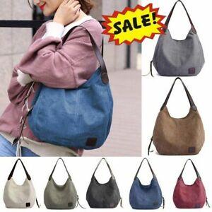 Women-Vintage-Canvas-Hobo-Bag-Large-Tote-Messenger-Shoulder-Purse-Zip-Handbag-US