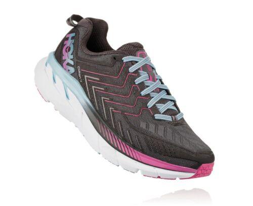 Chaussures De Course Femme HOKA ONE One CLIFTON 4 Pierra ment top gris congelés//