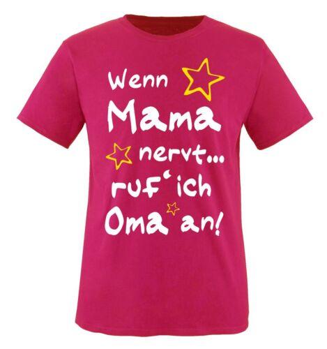 Comedy Shirts-Si maman craint.. Enfants T-shirt Taille 86-16 réputation /'je grand-mère à!