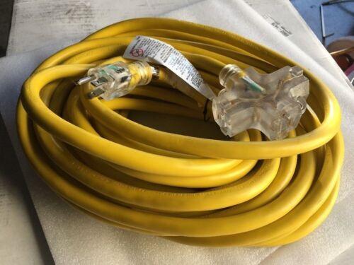 50 Ft Premium Grade 10 Gauge Triple Tap Plug Extension Power Cord