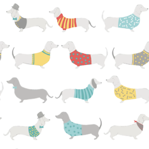 Catherine Lansfield Silly Sausage Dogs Multi Designer Quirky Wallpaper 165531