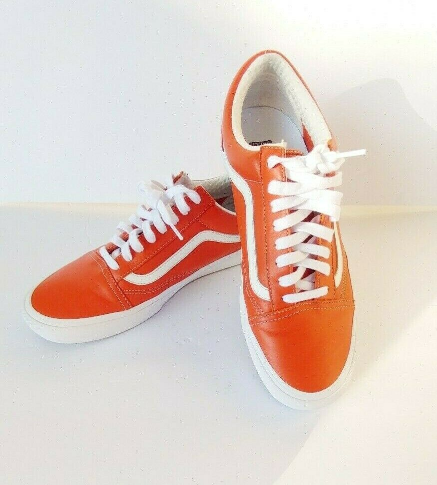 Vans Vault Old Skool VLT LX En Cuir Italien Homme Orange Mango VN 0 A 3 MUWR 2 V SZ 12